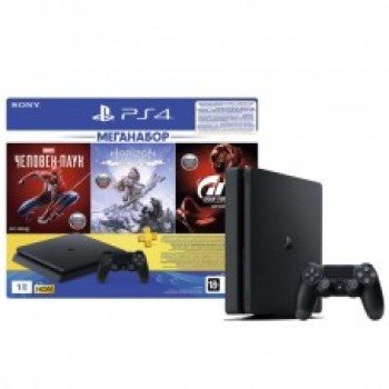 PlayStation 4 1TB GTS/HZD/SpiderM/PS+ 3мес. / Original SONY