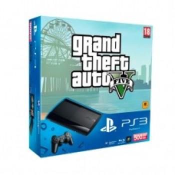 Sony PlayStation 3 Super Slim 500Gb + Gta V